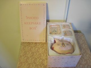 Potter Baby Girl Set Bank Frame First Tooth Curl Photo Box Pink