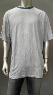 Foot Locker Mens 2XL Blue Cotton Basic T Shirt Tee Short Sleeve Solid