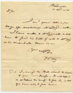 Francis Scott Key 1838 Autograph Letter Signed ALS