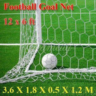 12x6ft Football Soccer Goal Post Nets 3 6x1 8m Full Size Sports Match
