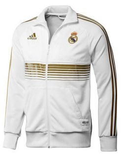 Madrid Adidas Training Jacket Anthem TG 2011 12 White Polyester
