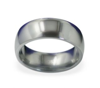 Tungsten Carbide Comfort Fit Wedding Band Promise Ring