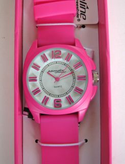 Adrenalline by Freestyle Pink Silicon Band White Dial Women Watch