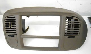 Ford Expedition F 150 CENTER radio Dash Vents Radio Bezel Trim TAN 97