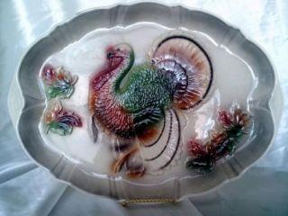 Turkey Platter 1958 Lane Co. Van Nuys California Pottery Hugh 20 x 15