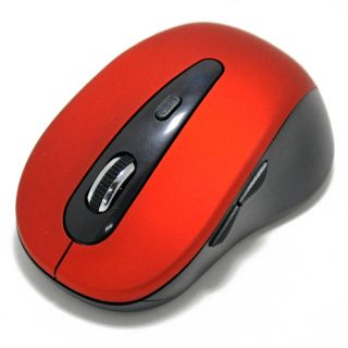 Button Laptop Notebook PC Bluetooth Wireless Optical Mini Mouse Red
