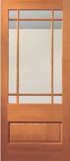 Exterior Hemlock Sash French Doors Solid Wood Stain Grade Various Door