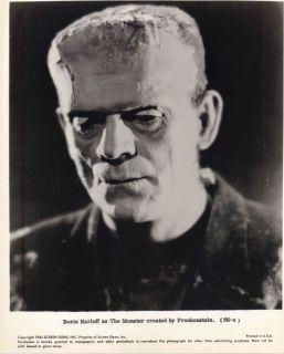 BORIS KARLOFF AUTOGRAPH AS FRANKENSTEIN   UNIQUE DISPLAY VINTATE 1930s
