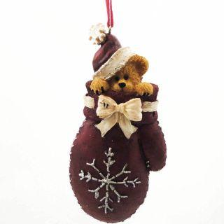 Boyds Bears Resin Flake Ornament 4028445 Christmas Mitten Santa New