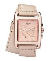 Michael Kors Womens Flamingos Double Wrap Strap Vachetta Watch MK2225