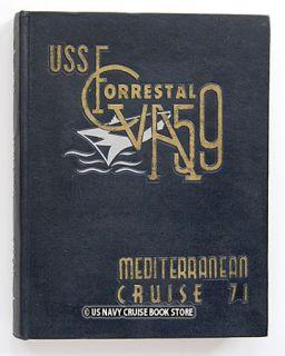 USS Forrestal CVA 59 Mediterranean Cruise Book 1971
