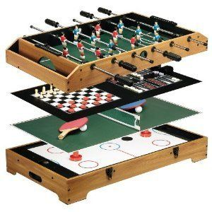 Franklin Sports Game Center Pool Billiards Table Tennis Air Hockey