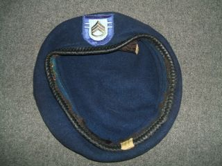 INFANTRY BLUE BERET FROM FORT CAMPBELL 502nd ASSAULT INFANTRY 1970s