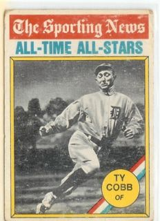 1976 Topps Sporting News 346 Ty Cobb Detroit Tigers