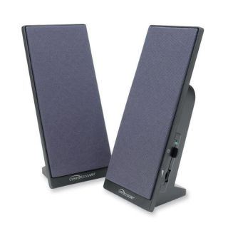 Compucessory 30251 Black Flat Panel Full Range Speaker w Volume