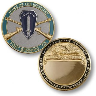 Fort Benning Home of The Infantry Coin Medal Georgia
