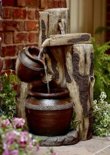 Fountain Water Outdoor Power Decor Waterfall Lawn Vintage New