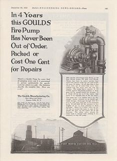 goulds mfg co ad fort worth cotton oil mill tx