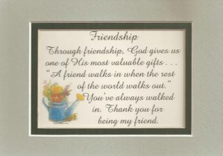 Thank Friends God Gifts Friendship Verses Poems Plaques
