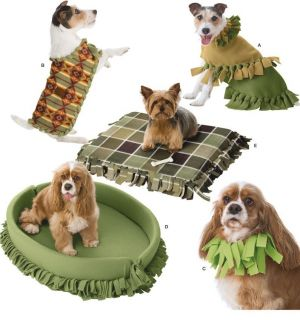 SEWING PATTERN Simplicity 3960 FLEECE DOG COATS CLOTHES BEDS COLLARS