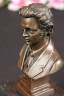 ART Bronze polish composer and pianist Frederic Francois Chopin Statue