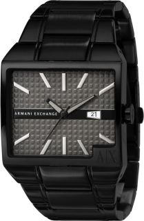 Exchange Watch Mens Black ion Plated Stainless Steel Bracelet