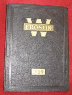 Fostoria Ohio St Wendelin High School 1929 Yearbook Seneca County Oh