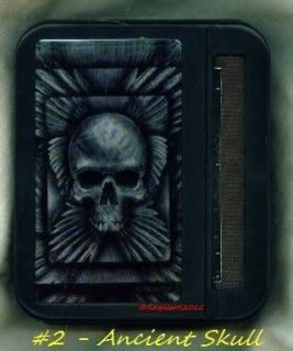 SKULL WINGS AUTOMATIC CIGARETTE ROLLER ROLLING MACHINE CASE BOX P2