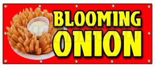Onion Banner Sign Onions Fried Fry Batter Big Large Signs Ring