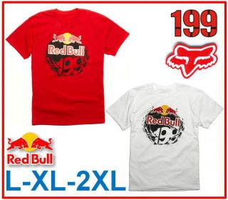 Fox Racing Mens Red Bull Travis Pastrana 199 Core MX Moto Rally Car T