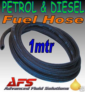 7mm Braided Unleaded Petrol Diesel Fuel Line Hose Pipe