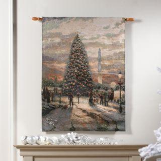Fiber Optic w Christmas Music Symbols of Freedom Tapestry New