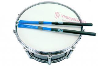 Flix Tips Blue Medium Sticks FTM Fiber Drumsticks Rods Drum Brushes