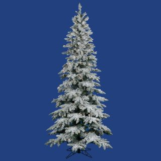 ft White Flocked Downswept Clear Lights Christmas Tree Pre Lit