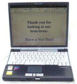 Fujitsu LifeBook S6210 Pentium M 1 6GHz 1GB RAM 40GB HDD Laptop Ubuntu