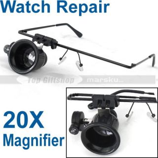 Jewelry Watch Repair Magnifier Magnifying LED Light Glass ...