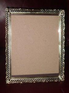 Metal Art Gold Lattice Repousse Scroll Floral Picute Photo Frame