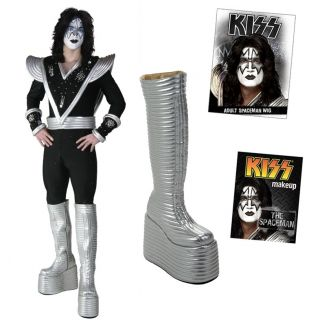 Kiss Ace Frehley Spaceman Complete Destroyer Costume Boots Wig Makeup
