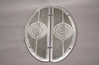 Panhead Club Castings Deluxe Aluminum Floor Boards Inserts