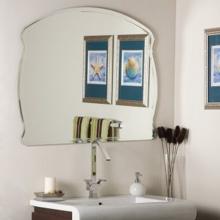 Frameless Bathroom Wide Wall Mirror Hall Bevel Designer