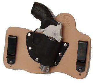 FoxX Leather Kydex IWB Hybrid Holster Smith Wesson J Frame Revolver RH