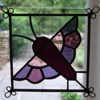 New Set of 4 Stained Glass Quilt Pattern Suncatcher 407