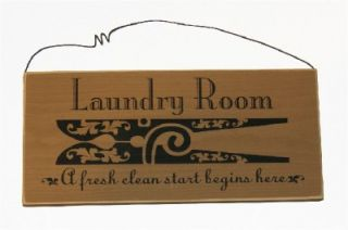 Laundry Room Fresh Start Begins Here Made in USA Sign