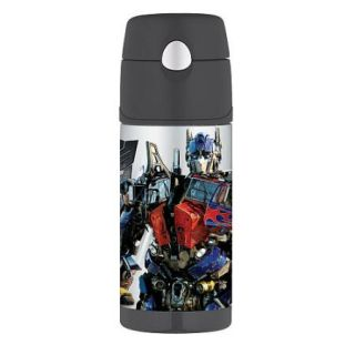 Transformers Thermos Funtainer Beverage Bottle Bumblebee Optimus Prime
