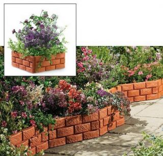 PC Snapping Brick Garden Border Edging Set Interlocking Yard Decor