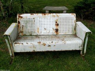 Patio Glider Bench Garden Furniture Pickup PA Bunting Refinish