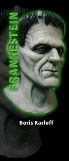 Frankenstein Boris Karloff Latex Mask Halloween Costume