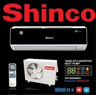 Quiet Shinco Ductless Split Air Conditioner Inverter Heat Pump