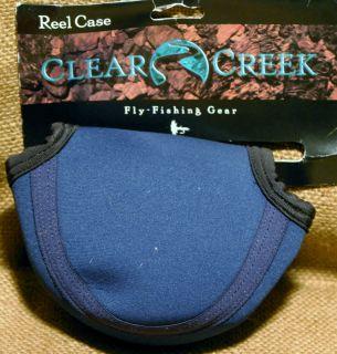 Clear Creek Fly Fishing Gear New Reel Case Blue Medium Neoprene Case