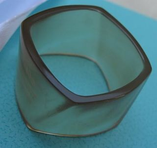 Tiffany Co Frank Gehry RARE Sheer Agate Torque Band Ring Retired